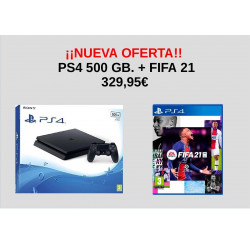 PS4 PACK CONSOLA SLIM 500GB...